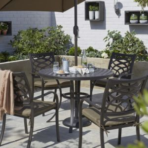 Ripley metal 4 seater dining set for B q dining room furniture