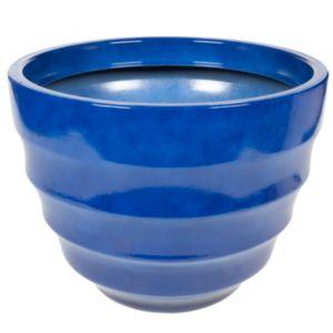 Blue Round Planter
