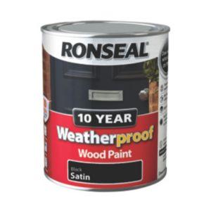 ronseal exterior wood paint exterior black satin exterior wood paint 750ml