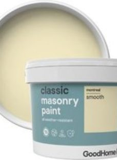 GoodHome Classic Montreal Smooth Matt Masonry paint  10L