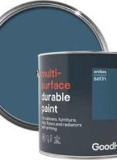 GoodHome Durable Antibes Satin Multi-surface paint  2L