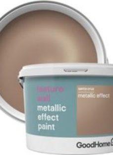 GoodHome Feature wall Santa cruz Metallic effect Emulsion paint 2L