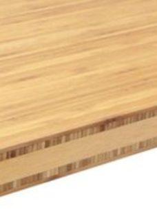 40mm Polished Bamboo Square edge Kitchen Breakfast bar Worktop  (L)3000mm