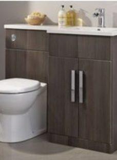 Cooke & Lewis Ardesio Bodega grey Vanity & toilet unit