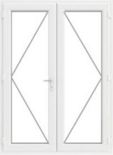 GoodHome Clear Double glazed White uPVC External Patio door & frame  (H)2090mm (W)1490mm