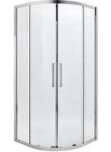 Cooke & Lewis Zilia Quadrant Clear Shower Enclosure with Corner entry double sliding door (W)900mm