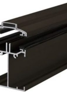 Alukap SS Brown Aluminium Low profile Glazing bar  (L)3m (W)60mm (T)90mm