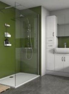 Splashwall Matt Forest 3 sided Shower Panel kit (L)1200mm (W)1200mm (T)4mm