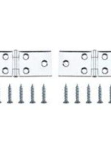 Chrome-plated Metal Backflap Door hinge (L)25mm  Pack of 2