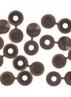 Brown Screw cap (Dia)12mm  Pack of 10