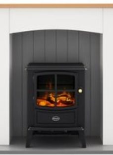 Dimplex Oakmead Optiflame White & grey Ivory effect Electric LCD electric stove suite