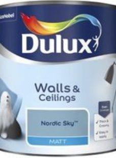 Dulux Nordic sky Matt Emulsion paint 2.5L