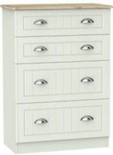 Como Grey oak effect 4 Drawer Chest (H)1080mm (W)770mm (D)410mm