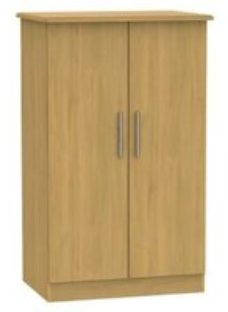 Montana Oak effect Midi Double Wardrobe (H)1270mm (W)770mm (D)540mm