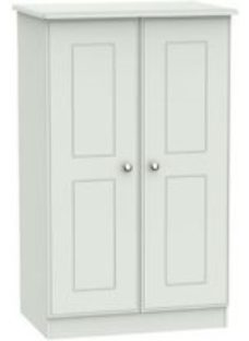 Lugano Grey Midi Double Wardrobe (H)1270mm (W)770mm (D)540mm