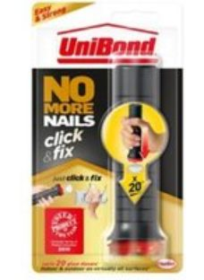 UniBond Click & Fix Solvent-free White Grab adhesive 30ml