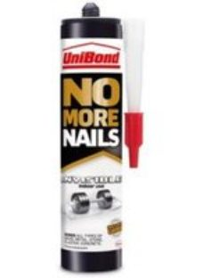 UniBond No More Nails Invisible Solvent-free Water-based White Multi-purpose Grab adhesive 280ml