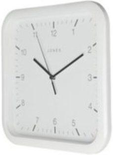 Jones Abacus White Quartz Alarm clock