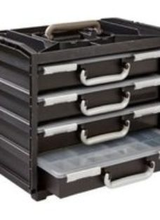 Raaco Black & grey 4 compartment Organiser