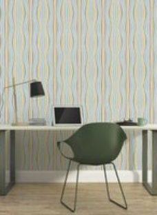 As Creation Pop colours Multicolour Retro 3D effect Textured Wallpaper