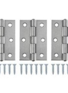 Stainless steel Butt Door hinge (L)75mm  Pack of 3