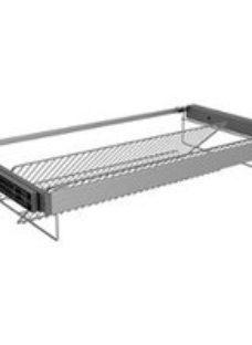 Form Darwin Silver effect Shoe rack (H)58mm (W)950mm