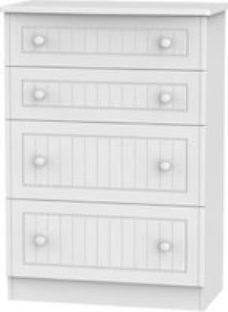 Warwick Matt white 4 Drawer Deep Chest (H)1075mm (W)765mm (D)415mm