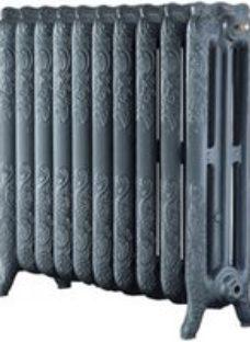 Arroll Montmartre 3 Column Radiator  Cast grey (W)834mm (H)760mm