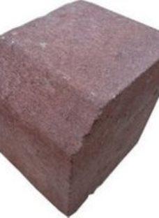 Red Block kerb (L)125mm (W)125mm (T)100mm