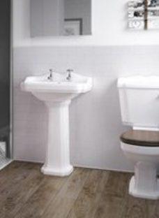 Splashwall Gloss Cream Tile effect Shower Panel (H)2420mm (T)3mm