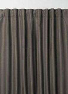 Klama Dark grey Plain Unlined Pencil pleat Curtain (W)117cm (L)137cm  Single