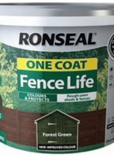Ronseal One coat fence life Forest green Matt Fence & shed Treatment 9L