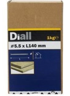 Diall Round wire nail (L)140mm (Dia)5.5mm 1kg  Pack