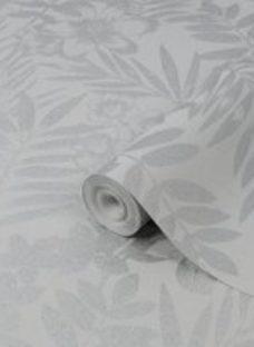 Graham & Brown Boutique Alice Leaf Metallic effect Embossed Wallpaper
