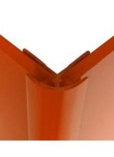 Splashwall Pumpkin Straight Panel external corner joint  (L)2440mm