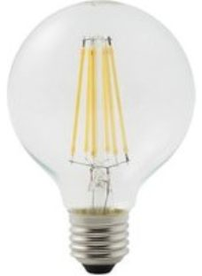 Diall E27 12W 1521lm Globe Neutral white LED Dimmable Filament Light bulb