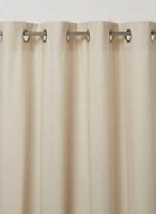 Hiva Beige Plain Unlined Eyelet Curtain (W)167cm (L)183cm  Single