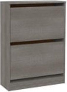 Form Darwin Grey oak effect Shoe rack (H)951mm (W)750mm