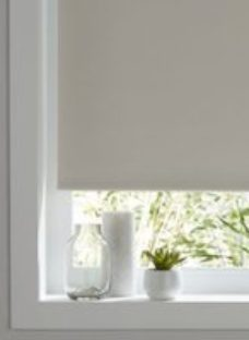 Pama Corded White Plain Thermal lined Roller Blind (W)120cm (L)195cm
