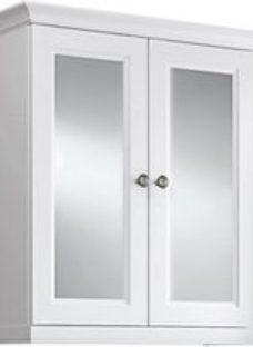 Cooke & Lewis Chadleigh Matt White Mirrored Cabinet (W)670mm (H)750mm