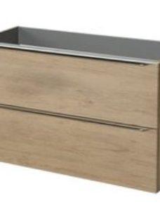 GoodHome Imandra Oak effect Freestanding Vanity unit & basin set  (W)1004mm