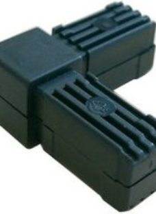 Diall Black Round Tube connector  (H)20mm (W)20mm