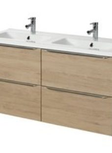 GoodHome Imandra Oak effect Wall-mounted Vanity unit & basin set  (W)1204mm
