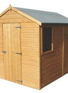 Shire Durham 8x6 Apex Dip treated Shiplap Honey brown Wooden Shed with floor (Base included)