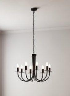Mashatu Black 8 Lamp Pendant ceiling light  (Dia)640mm