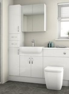 Cooke & Lewis Santini Gloss White Vanity & toilet unit