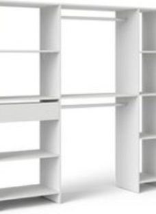Form Pole & Satelit Matt white Wardrobe Internal Dressing kit (H)1804mm (L)1850mm (D)400mm