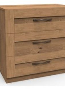 Darwin Gloss white 3 Drawer Chest (H)787mm (W)800mm (D)420mm