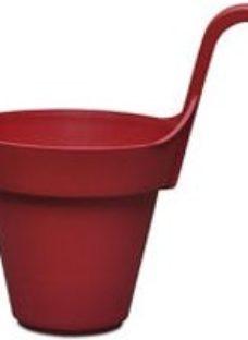 Nurgul Red Plastic Round Hanging pot (Dia)20cm