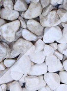 Blooma White Marble Rounded pebbles  Bulk 22.5kg Bag